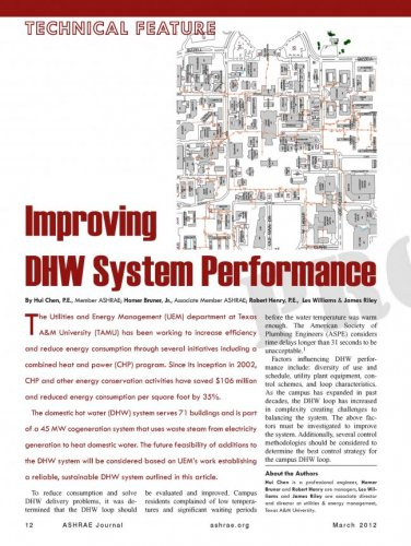 Improving DHW System Performance - Utilities & Energy Services