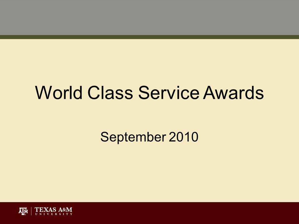 Dissertation on world class service