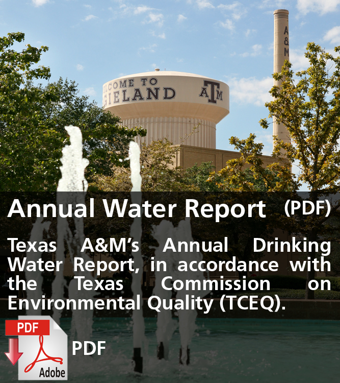 Texas A&M Annual Water Report (PDF)