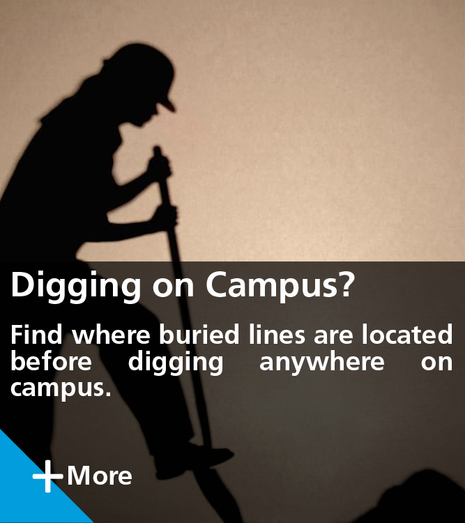 Find Where Buried Lines are Located Before Digging on Campus