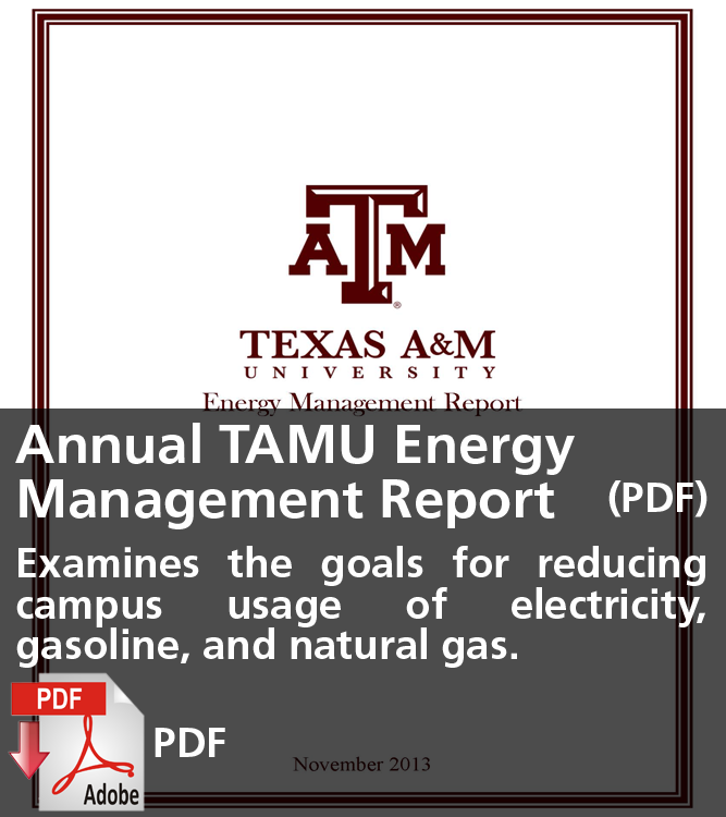 Annual Texas A&M Energy Management Report (PDF)