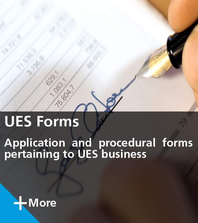 UES Applications and Procedural Forms