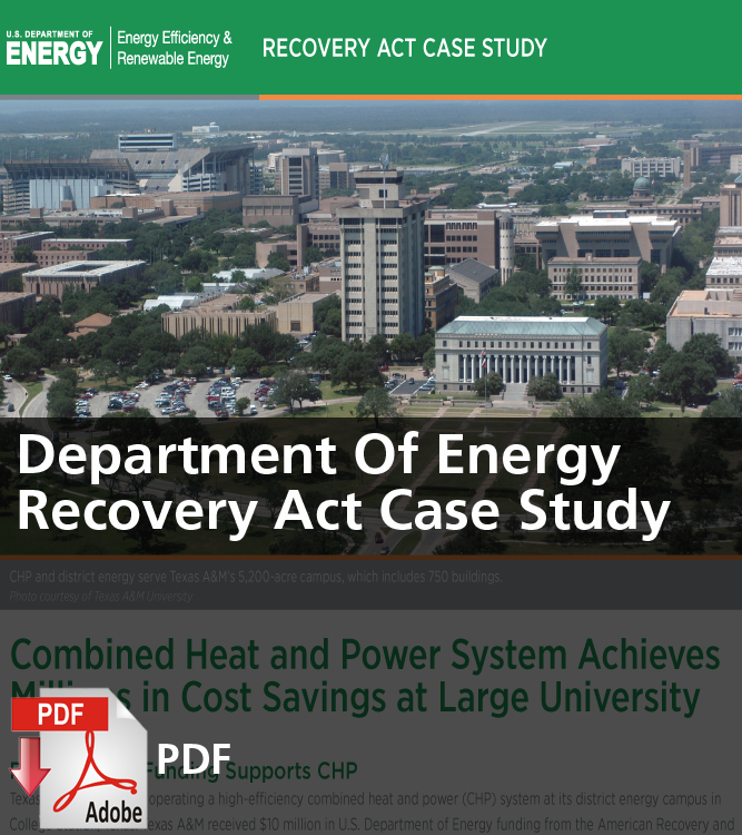 Department of Energy Recovery Act Case Study (PDF)
