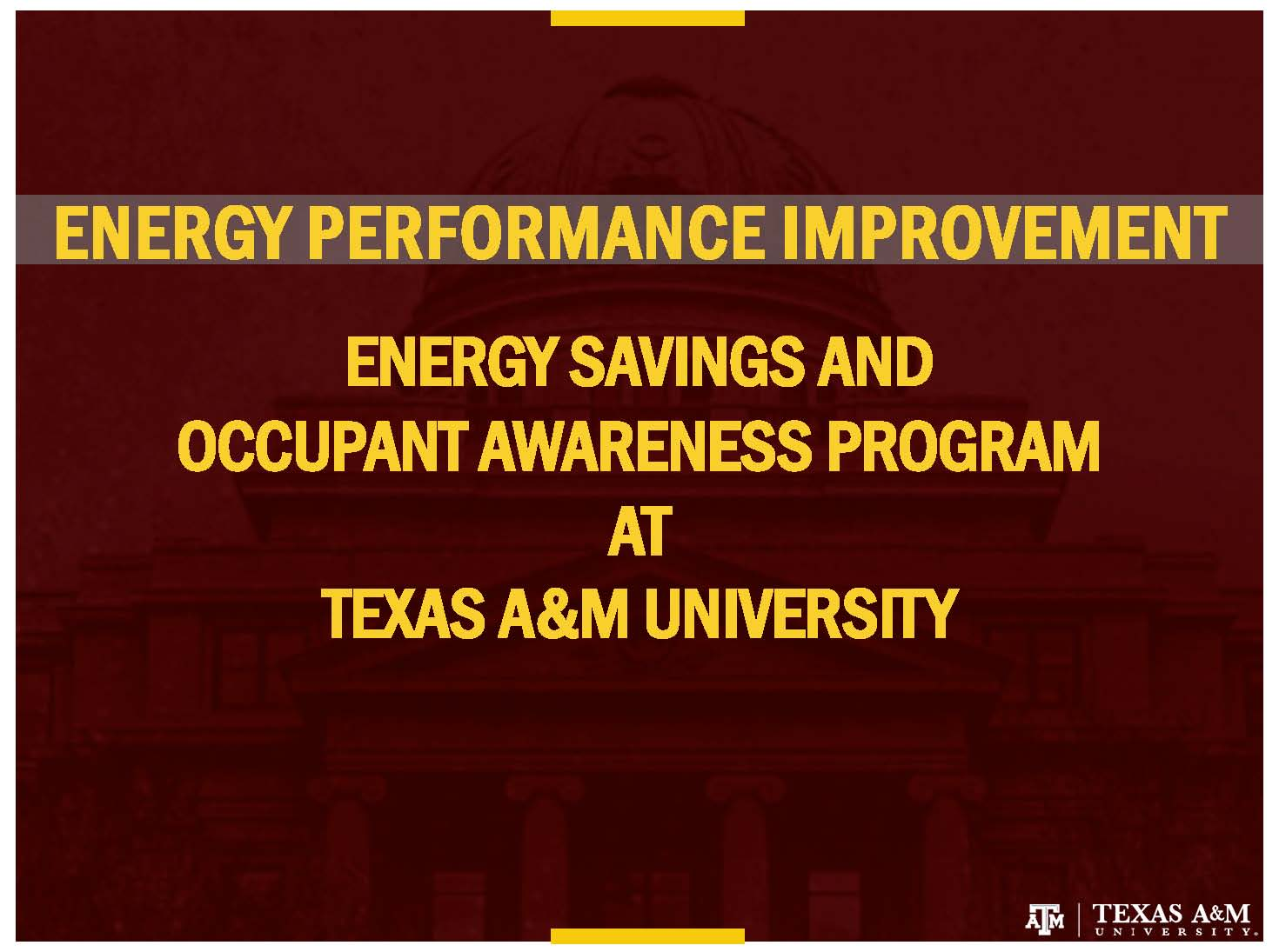 Energy Performance Program Overview